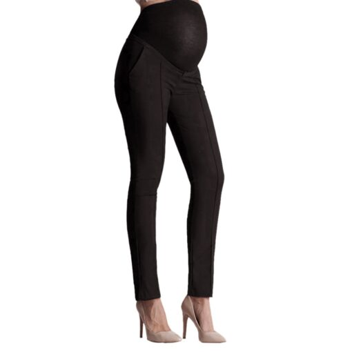 Pregnant Clothes Leggings Pants Tights Maternity Pants Pregnancy Elastic Belly Protection Maternity Trousers Pencil Pants S 1
