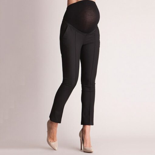 Pregnant Clothes Leggings Pants Tights Maternity Pants Pregnancy Elastic Belly Protection Maternity Trousers Pencil Pants S 3