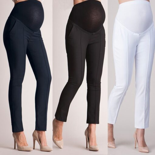 Pregnant Clothes Leggings Pants Tights Maternity Pants Pregnancy Elastic Belly Protection Maternity Trousers Pencil Pants S