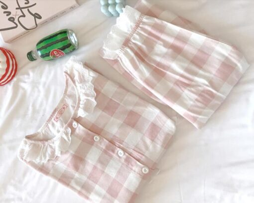 Pregnant Women Postpartum Nursing Cotton Pajamas Set Autumn Long Sleeve Peter Pan Collar Breastfeeding Shirts Long 4