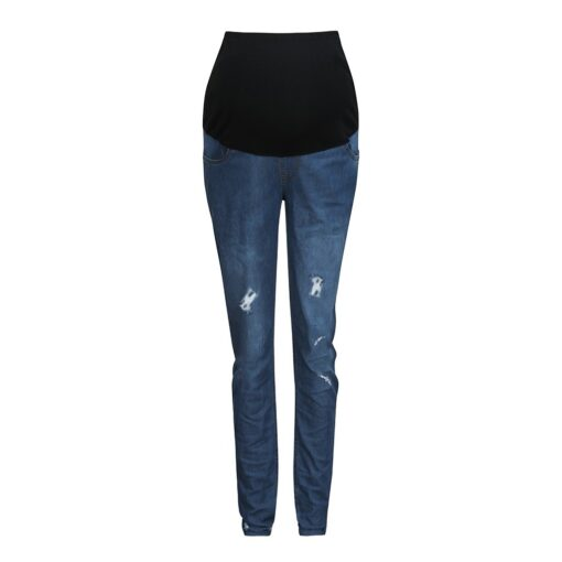 Pregnant Women s High Waist Belly Protection Push Up Jeans Ladies Fashion Slim Ripped Jeans Comfortable