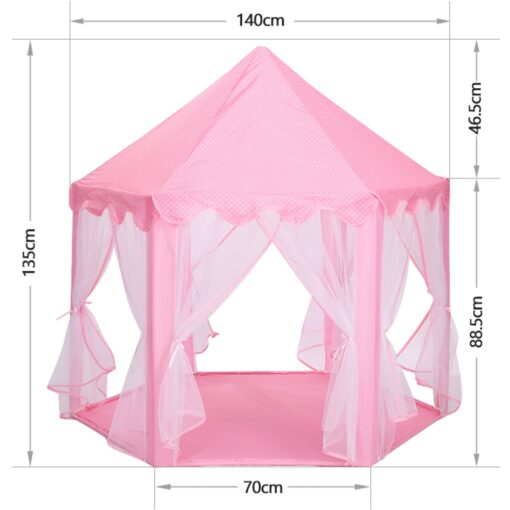 Princess Girl s Castle Playtent Portable Children s Tent Toy Ball Pool Play House Kids Small 1