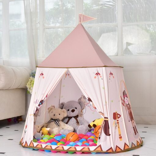 Princess Girl s Castle Playtent Portable Children s Tent Toy Ball Pool Play House Kids Small 2