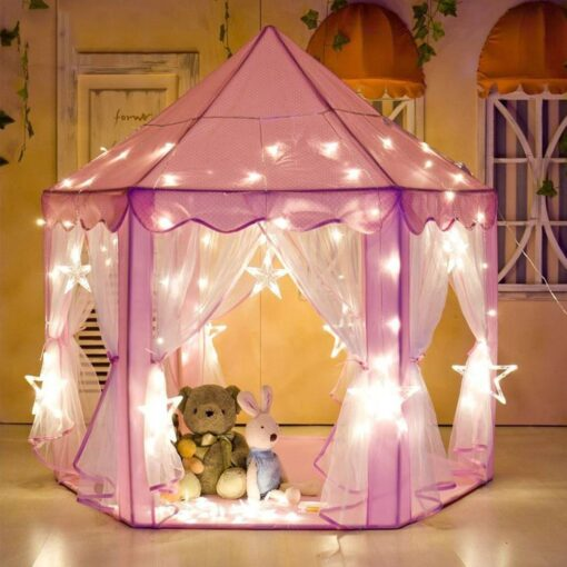 Princess Girl s Castle Playtent Portable Children s Tent Toy Ball Pool Play House Kids Small