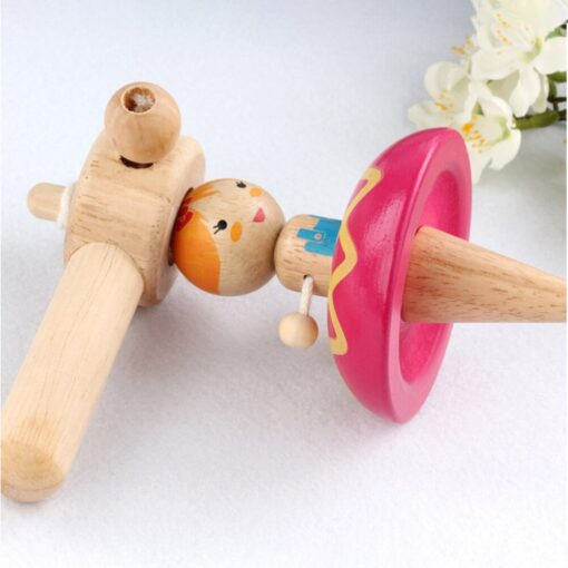 Princess Wood Gyro Spinning Top Girls Toys Children Adult Relief Stress Desktop Spinning Top Gyro Toys 3