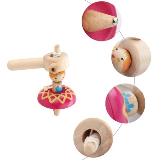 Princess Wood Gyro Spinning Top Girls Toys Children Adult Relief Stress Desktop Spinning Top Gyro Toys 4