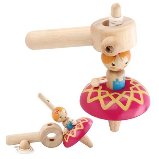 Princess Wood Gyro Spinning Top Girls Toys Children Adult Relief Stress Desktop Spinning Top Gyro Toys