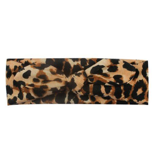 Pudcoco Fast Shipping Newborn Kids Girls Leopard Headband Baby Toddler Turban Bow Knotted Hair Band Headwear 4