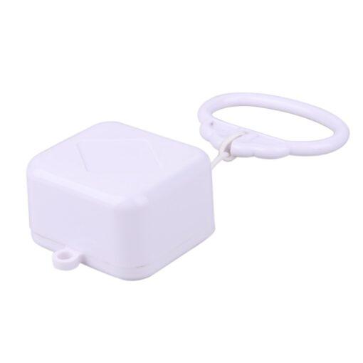 Pull Ring Music Box White ABS Plastic Pull String Clockwork Cord Music Box Baby Infant Kids 10