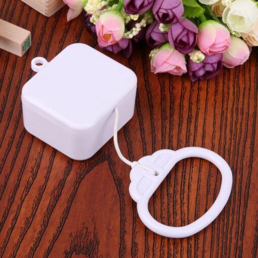 Pull Ring Music Box White ABS Plastic Pull String Infant Kids Clockwork Cord Music Box Infant 2