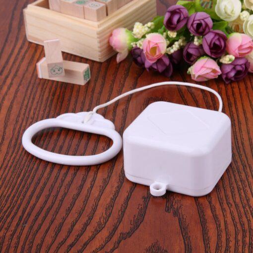 Pull Ring Music Box White ABS Plastic Pull String Infant Kids Clockwork Cord Music Box Infant 3