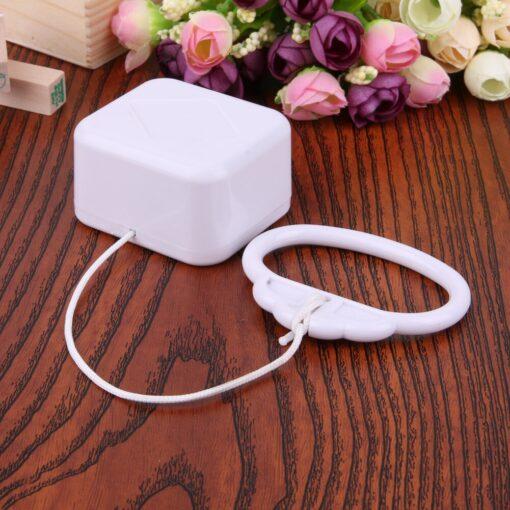 Pull Ring Music Box White ABS Plastic Pull String Infant Kids Clockwork Cord Music Box Infant 4