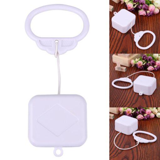 Pull Ring Music Box White ABS Plastic Pull String Infant Kids Clockwork Cord Music Box Infant