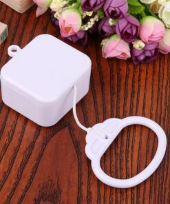 Pull String Cord Music Box White Baby Infant Kids Bed Bell Rattle Toy Gifts New Parts 6