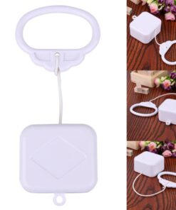 Pull String Cord Music Box White Baby Infant Kids Bed Bell Rattle Toy Gifts New Parts 7