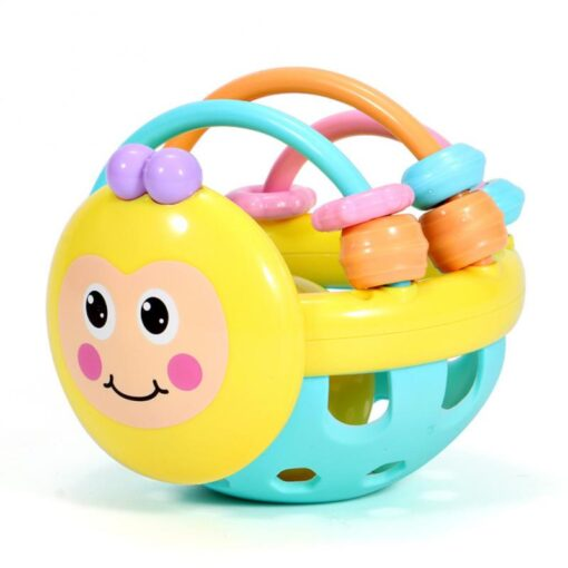 Puzzle Baby Rattles Bee Hand Knocking Rattle Rubber Dumbbell Kids Early Educational Soft Toys Christmas Gift