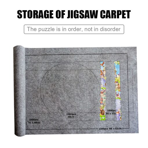 Puzzles Mat Jigsaw Roll Felt Mat Play Mat Large For Up To 1500 Pieces Puzzle Accessories 3