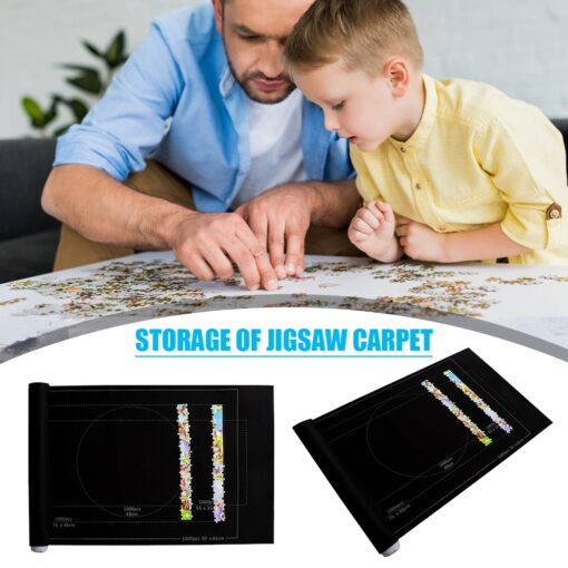Puzzles Mat Jigsaw Roll Felt Mat Play Mat Large For Up To 1500 Pieces Puzzle Accessories 4