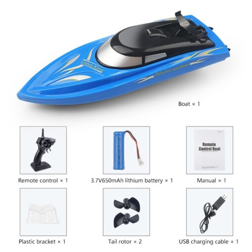 RC Boats 2 4g Remote Control Boat Lasts 20 Minutes High Speed Rowing Summer Water Boy 4