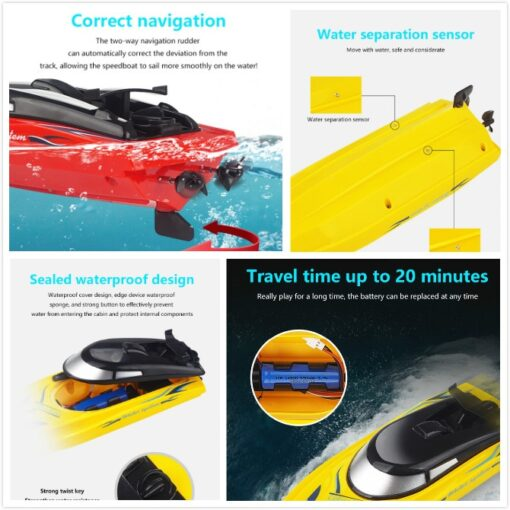 RC Boats 2 4g Remote Control Boat Lasts 20 Minutes High Speed Rowing Summer Water Boy 5