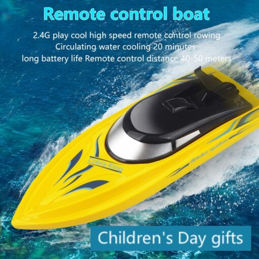 RC Boats 2 4g Remote Control Boat Lasts 20 Minutes High Speed Rowing Summer Water Boy
