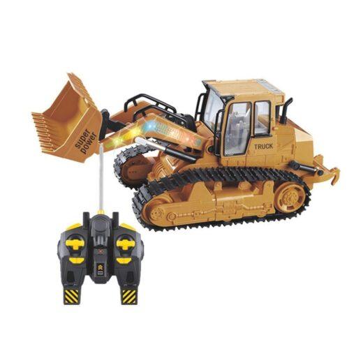 RC Car 1 12 RC Excavator Shovel Remote Control Construction Bulldozer Truck toys for boys Light 2