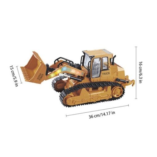 RC Car 1 12 RC Excavator Shovel Remote Control Construction Bulldozer Truck toys for boys Light 3