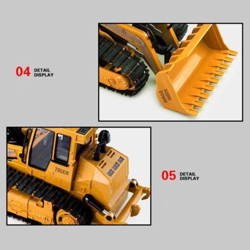 RC Car 1 12 RC Excavator Shovel Remote Control Construction Bulldozer Truck toys for boys Light 4