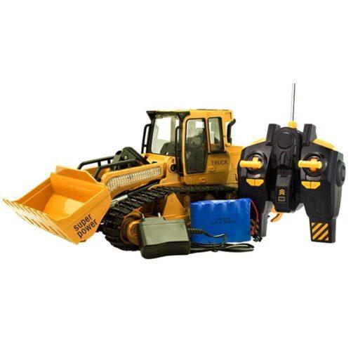 RC Car 1 12 RC Excavator Shovel Remote Control Construction Bulldozer Truck toys for boys Light 5