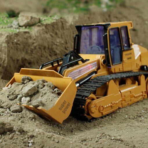 RC Car 1 12 RC Excavator Shovel Remote Control Construction Bulldozer Truck toys for boys Light