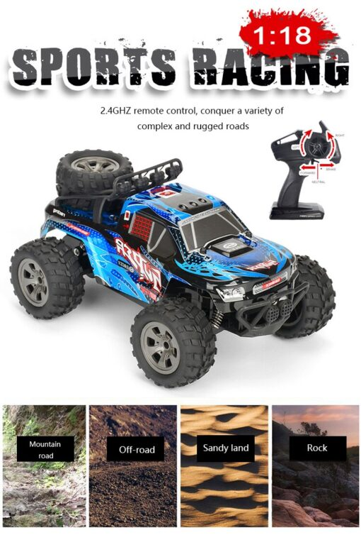 RC Car 2 4G High Speed Remote Control Vehicle Stunt Climbing Buggy Roll Car 360 Degree 2