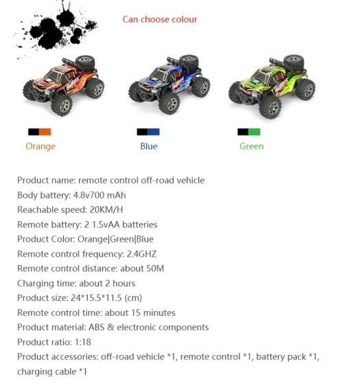 RC Car 2 4G High Speed Remote Control Vehicle Stunt Climbing Buggy Roll Car 360 Degree 5