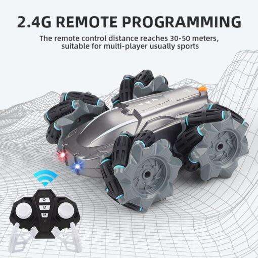 RC Car 2 4G Radio Control Stunt Car Gesture Induction Twisting Off Road Vehicle Light Music 1