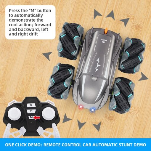 RC Car 2 4G Radio Control Stunt Car Gesture Induction Twisting Off Road Vehicle Light Music 2