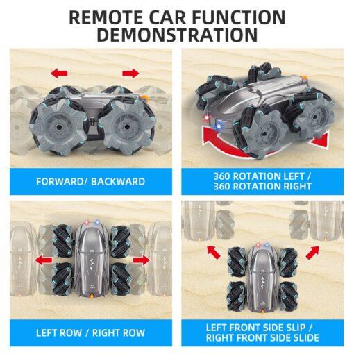 RC Car 2 4G Radio Control Stunt Car Gesture Induction Twisting Off Road Vehicle Light Music 3