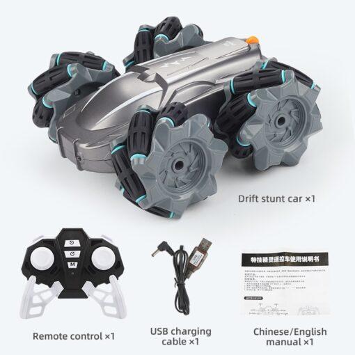 RC Car 2 4G Radio Control Stunt Car Gesture Induction Twisting Off Road Vehicle Light Music 4