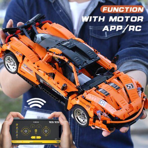 RC Control Technic McLaren P1 Motor Function Car Building Blocks Bricks Compatible With MOC 16915 Kids 1