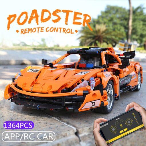RC Control Technic McLaren P1 Motor Function Car Building Blocks Bricks Compatible With MOC 16915 Kids 2