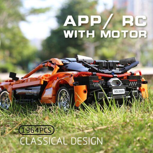 RC Control Technic McLaren P1 Motor Function Car Building Blocks Bricks Compatible With MOC 16915 Kids 3