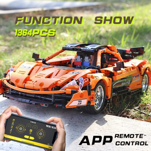 RC Control Technic McLaren P1 Motor Function Car Building Blocks Bricks Compatible With MOC 16915 Kids 4