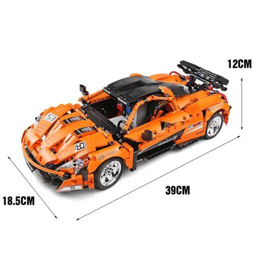 RC Control Technic McLaren P1 Motor Function Car Building Blocks Bricks Compatible With MOC 16915 Kids 5