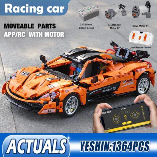 RC Control Technic McLaren P1 Motor Function Car Building Blocks Bricks Compatible With MOC 16915 Kids