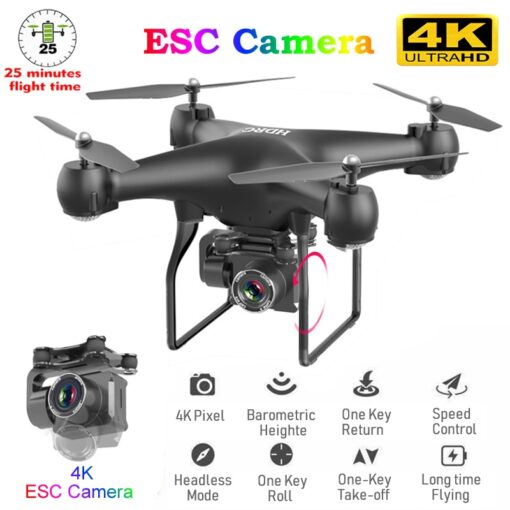 RC Drone Quadrocopter UAV with Camera 4K Profesional WIFI Wide angle Aerial Photography Ultra long Life