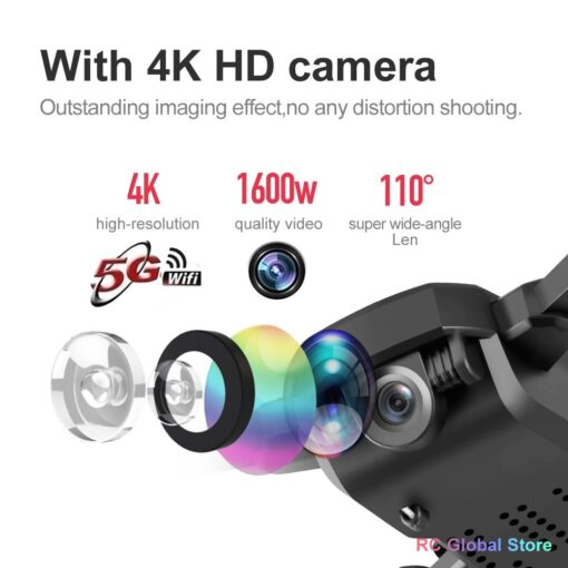 RC Drone UAV 4K HD with Camera Quadrocopter Mini 606 Remote Control Helicopter One Key Return 4