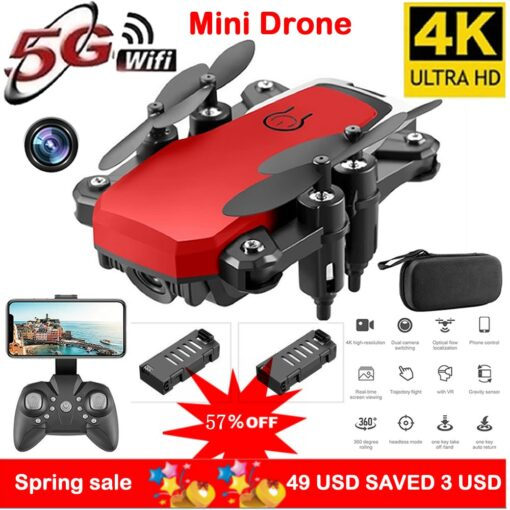 RC Drone UAV 4K HD with Camera Quadrocopter Mini 606 Remote Control Helicopter One Key Return