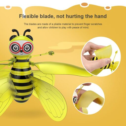 RC Flying Mini Bee Remote Control Toys Electronic Infrared Induction Aircraft Outdoor Game Gift For Boys 1