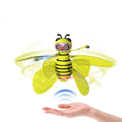 RC Flying Mini Bee Remote Control Toys Electronic Infrared Induction Aircraft Outdoor Game Gift For Boys 2