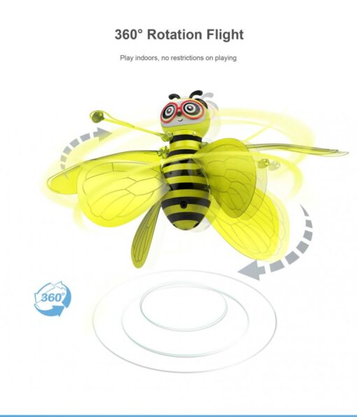 RC Flying Mini Bee Remote Control Toys Electronic Infrared Induction Aircraft Outdoor Game Gift For Boys 3