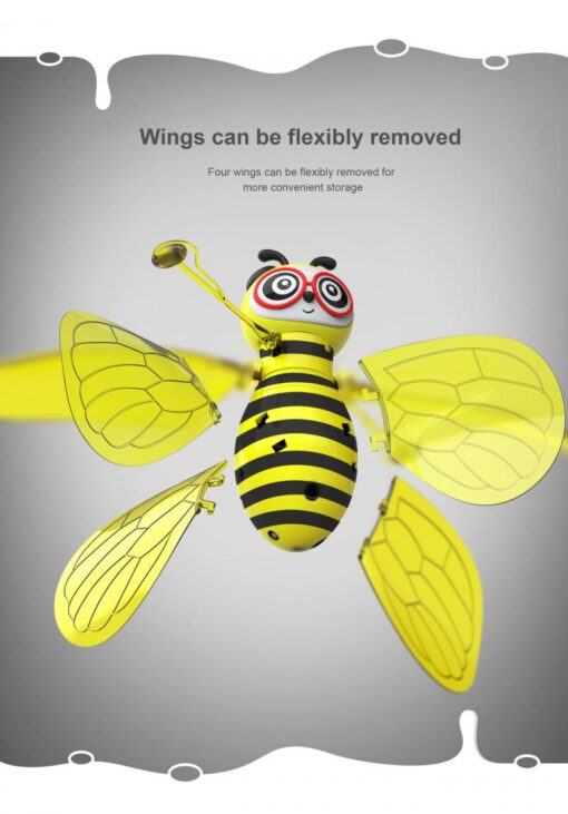 RC Flying Mini Bee Remote Control Toys Electronic Infrared Induction Aircraft Outdoor Game Gift For Boys 4