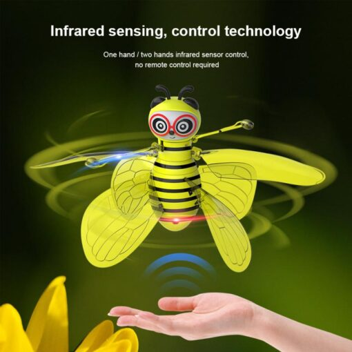 RC Flying Mini Bee Remote Control Toys Electronic Infrared Induction Aircraft Outdoor Game Gift For Boys